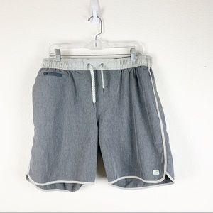 Vuori   Mens Bank shorts gray drawstring